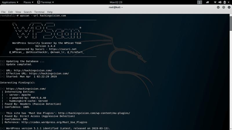 WordPress Sicherheitsüberprüfung wpscan Tool