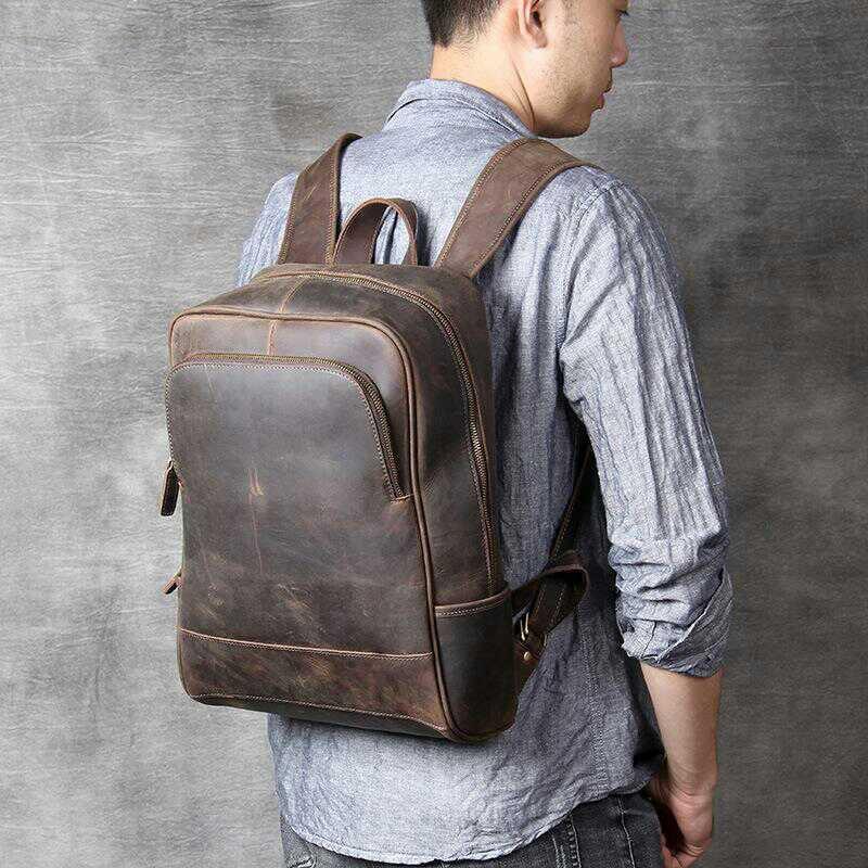 Men's Leather Backpacks For Work
