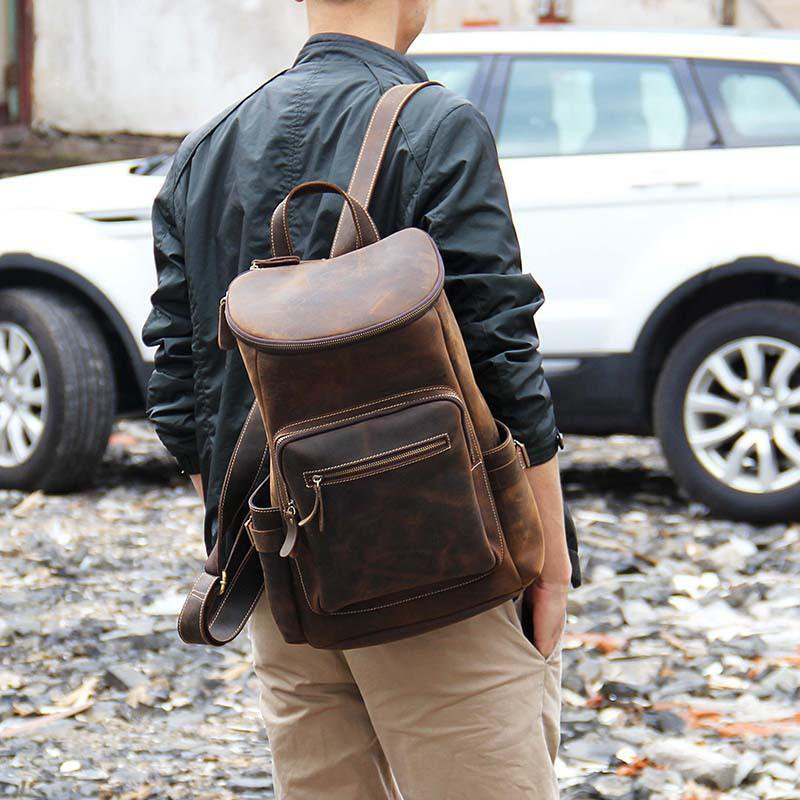Handcrafted Leather Backpack