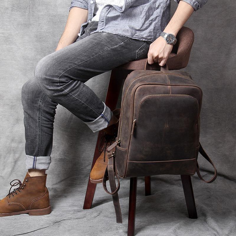 Men's Leather Minimalist Backpacks