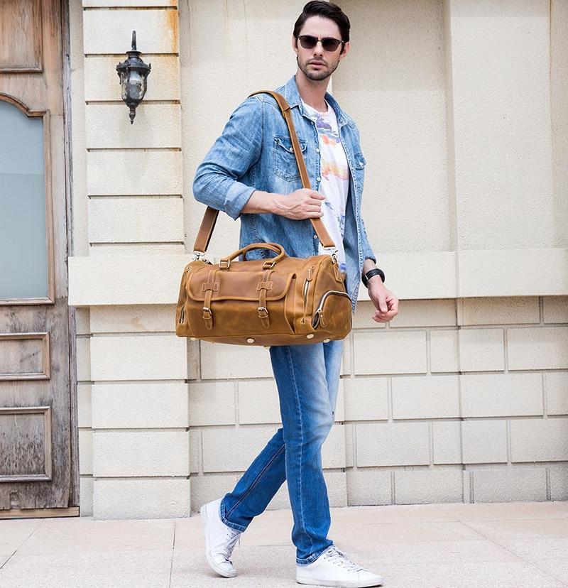 Stylish Leather Duffel Bag