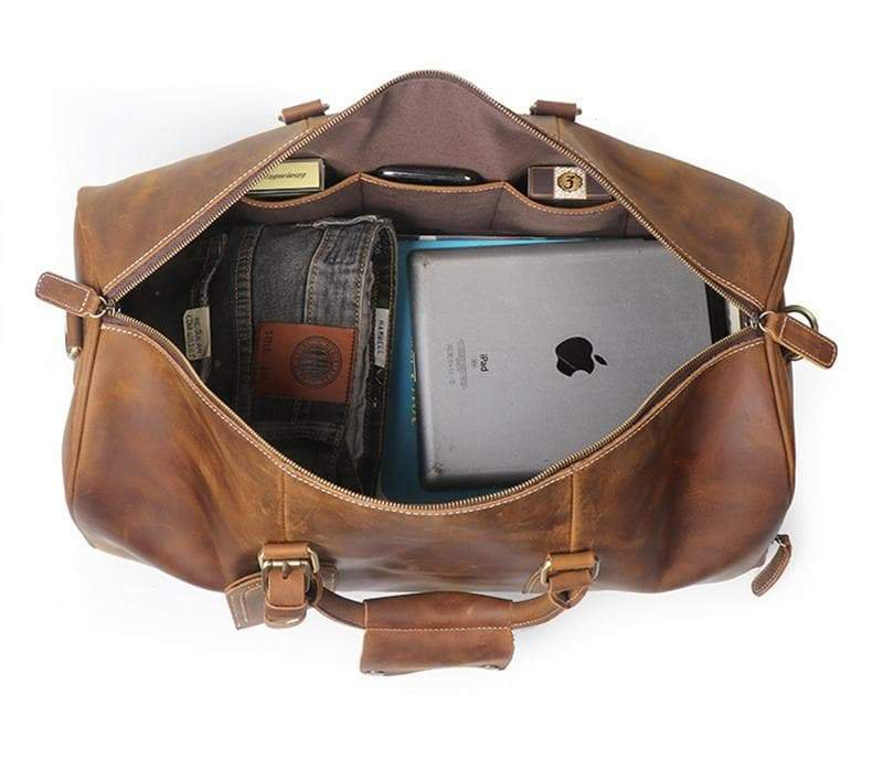 Leather Laptop Duffel Bags