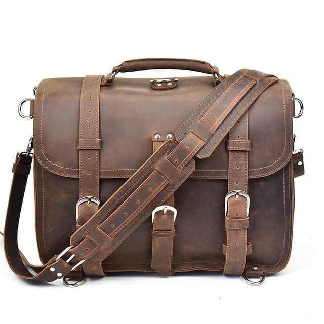 The Gustav Messenger Bag | Large Capacity Vintage Leather Messenger Bag