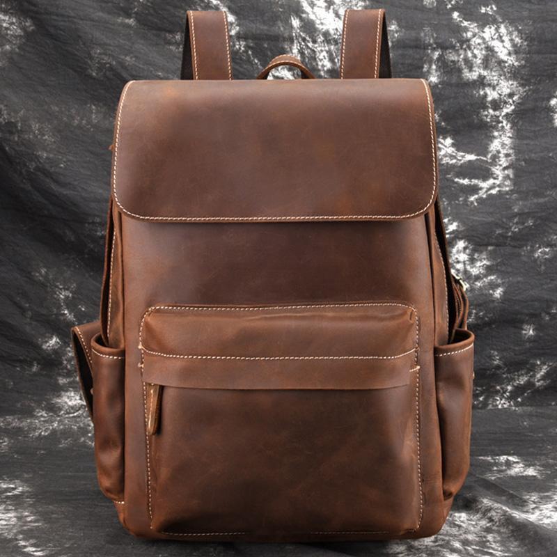 Genuine Vintage Leather Backpack