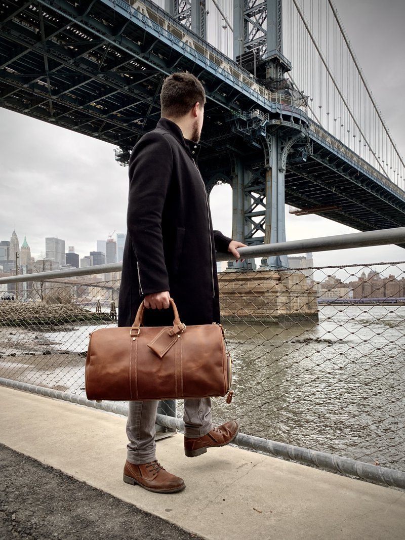 Men's Leather Duffel Bag