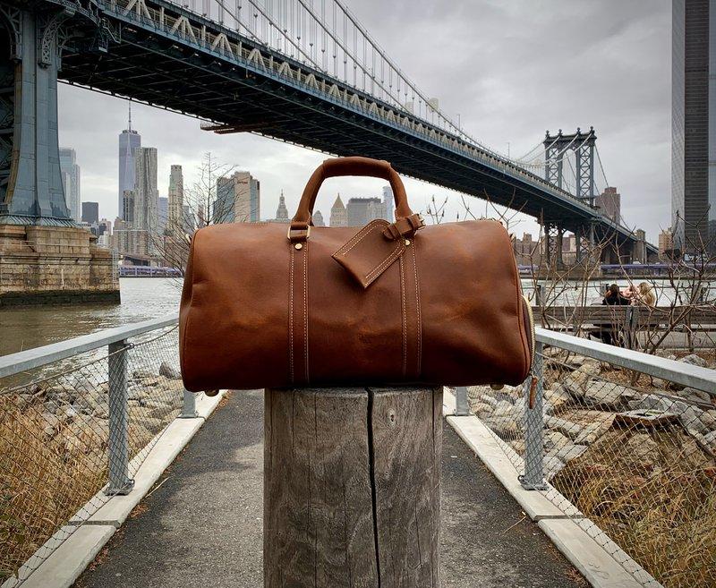 Full-grain leather bag