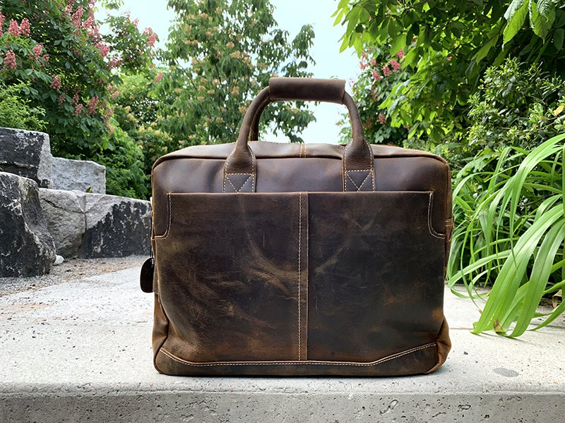 Waxed Leather Messenger Bag