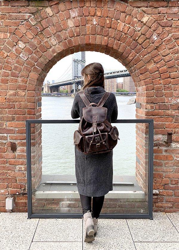 Leather Backpack in Brooklyn