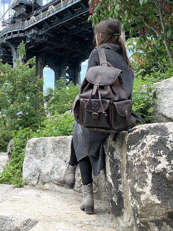The Asmund Backpack | Genuine Leather Rucksack
