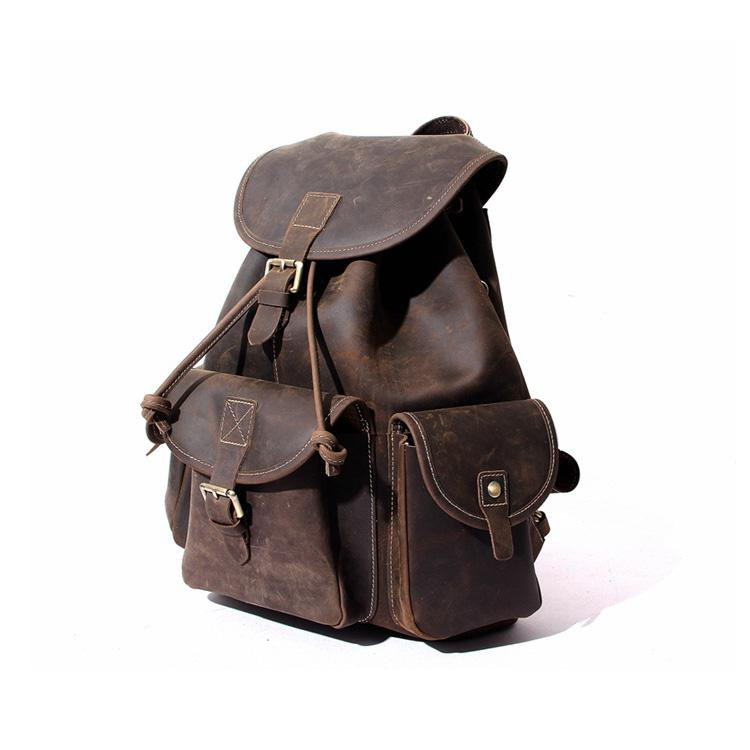 Genuine Leather Backpack for work