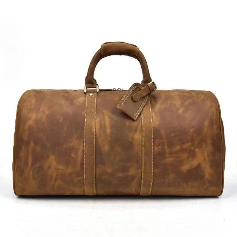Handcrafted Leather Duffle Bag