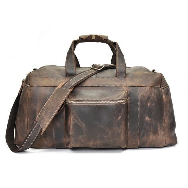 Large Capacity Leather Weekender gift