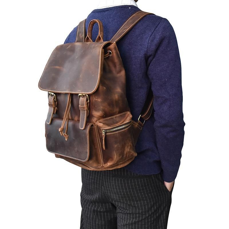 Vintage Leather Backpacks