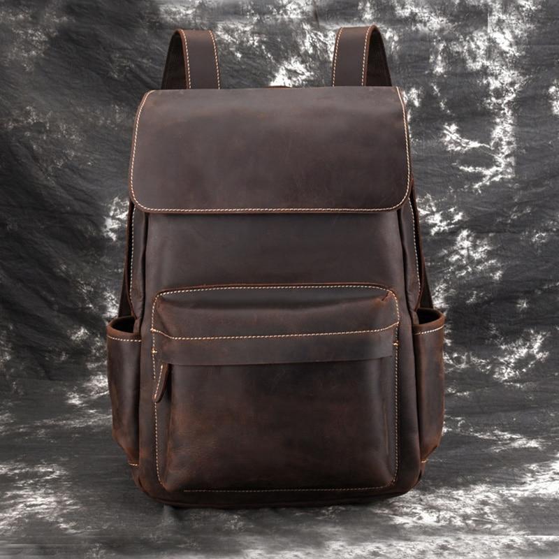 Vintage Leather Backpack for work