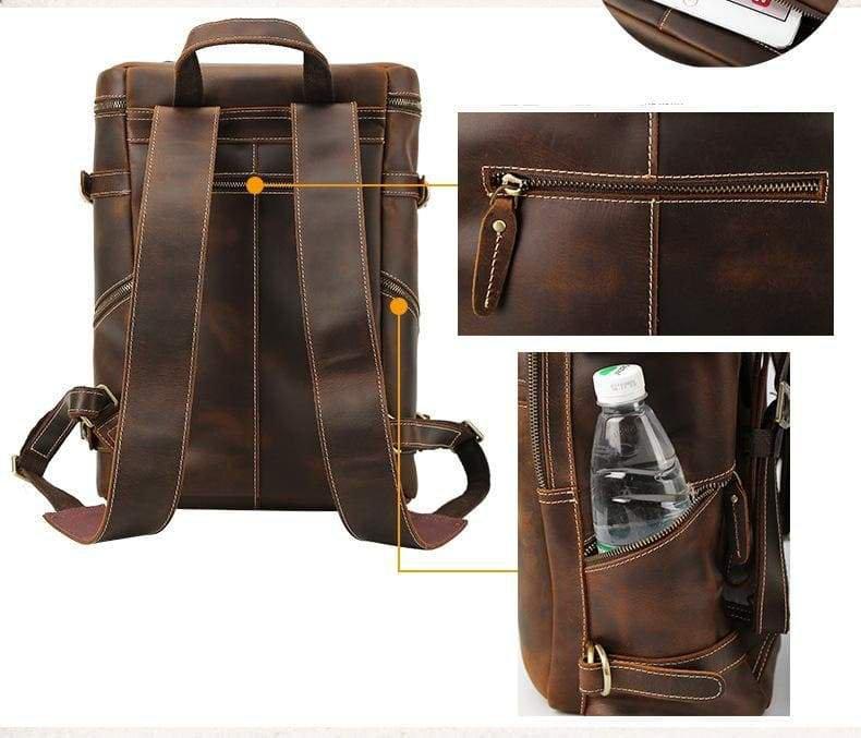 Handmade Vintage Leather Backpack for work