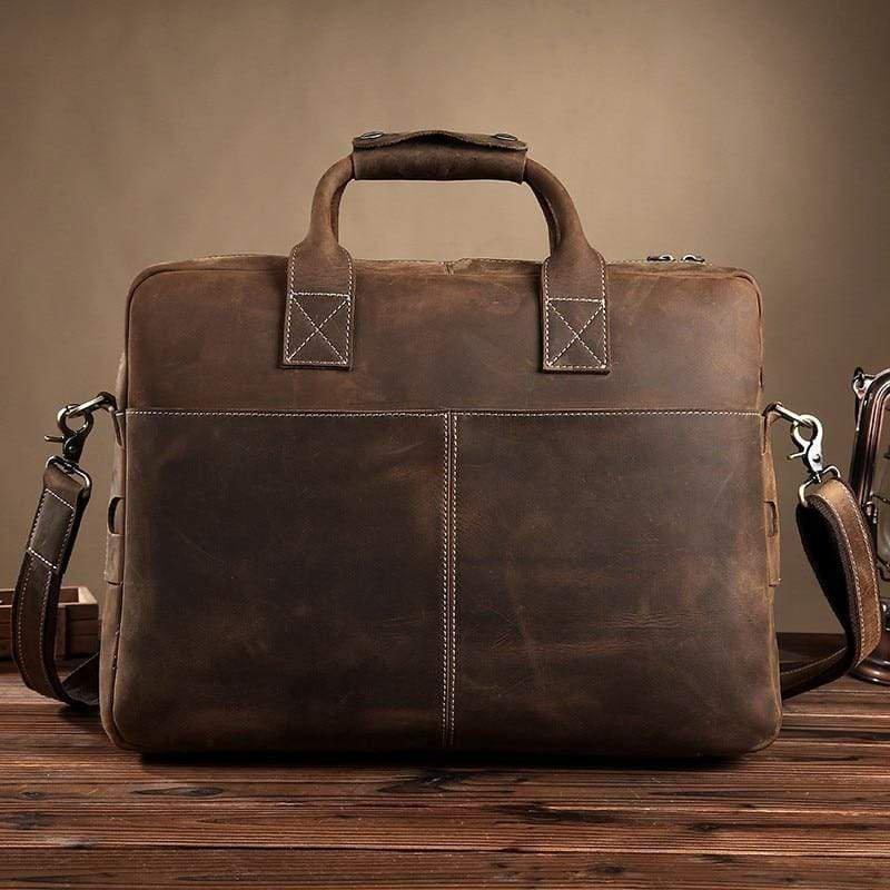 Vintage Leather Messenger Bag gift