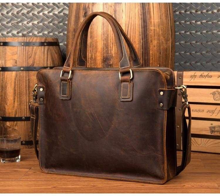 Genuine Leather Messenger Bag