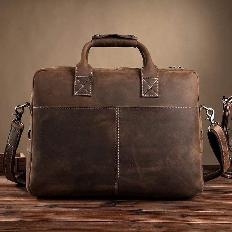 The Welch Briefcase | Vintage Leather Messenger Bag