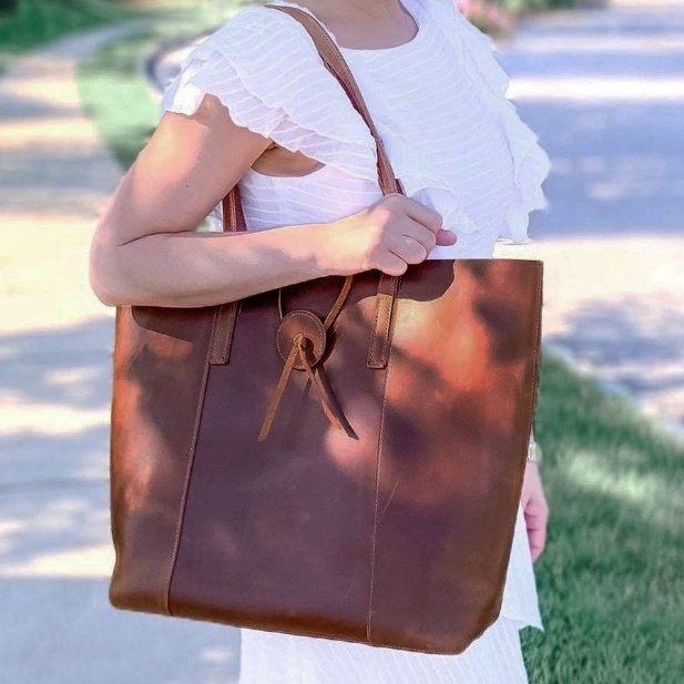 Leather Tote Laptop Bag