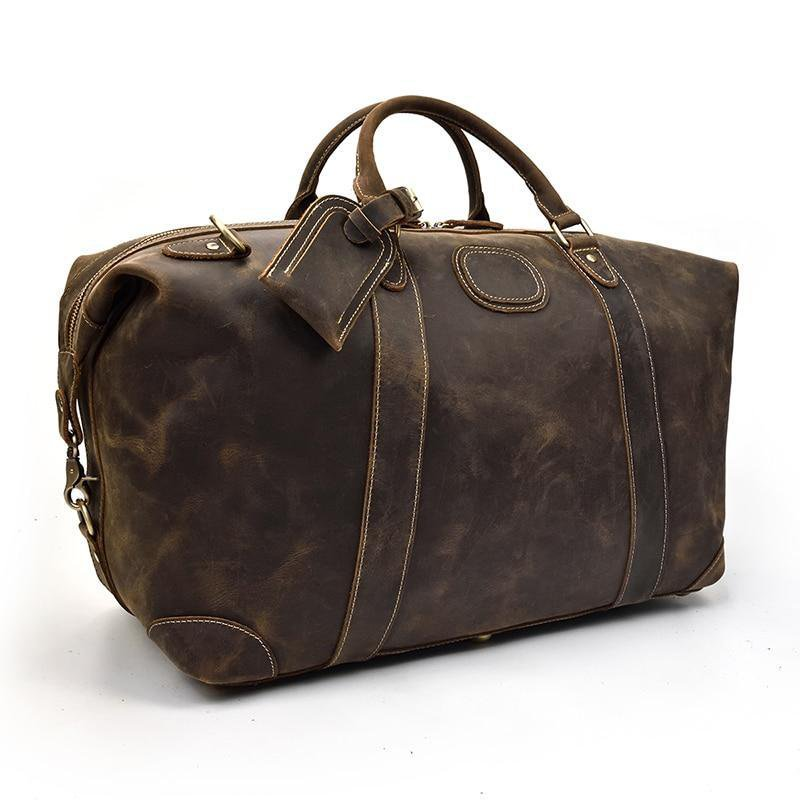 The Eira Duffle Bag | Vintage Leather Weekender
