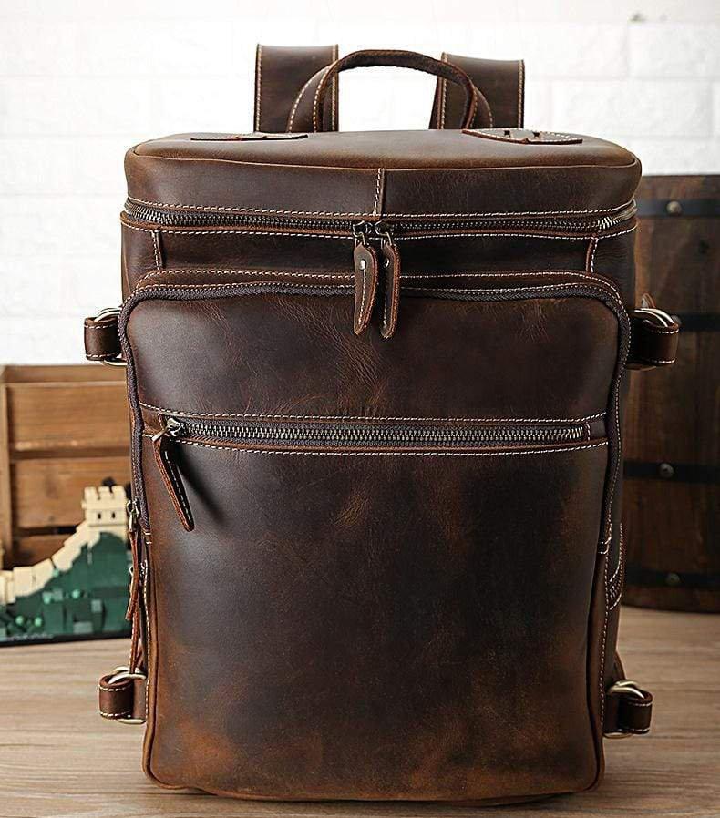 Handmade Vintage Leather Backpack