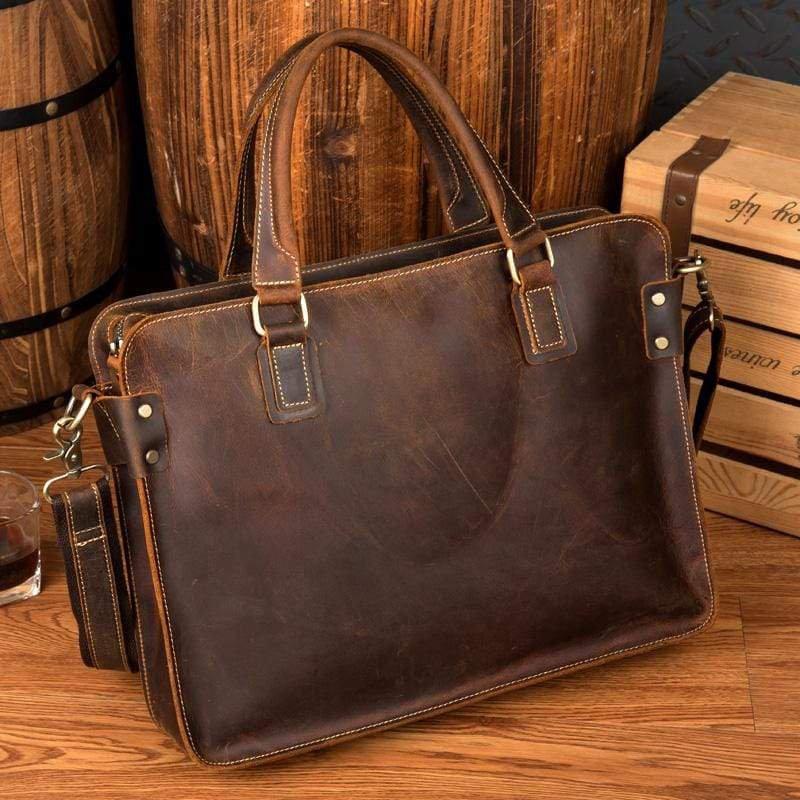 The Viggo Briefcase | Genuine Leather Messenger Bag