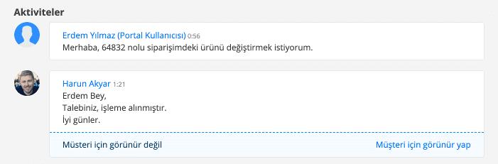Destek Talebi