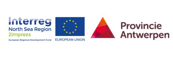 2IMPREZS wordt gefinancierd door Europa en Provincie Antwerpen