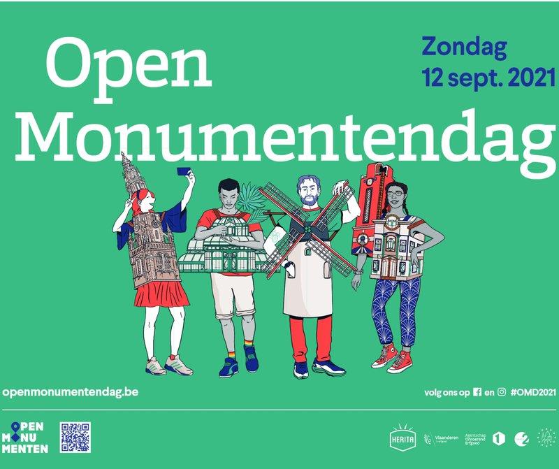 De officiële affiche van Open Monumentendag 2021.