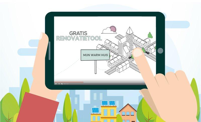 Met de gratis renovatietool Mijn Warm Huis bereken je in een wip hoeveel een duurzame renovatie kost en wat je ermee bespaart.