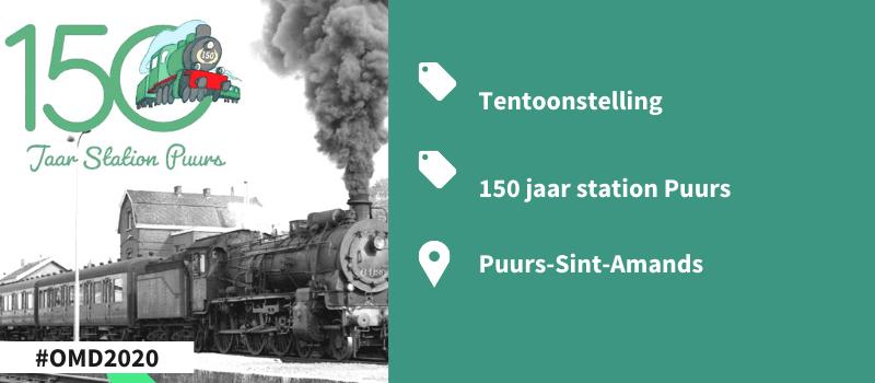 Tentoonstelling 150 jaar station Puurs-Open Monumentendag