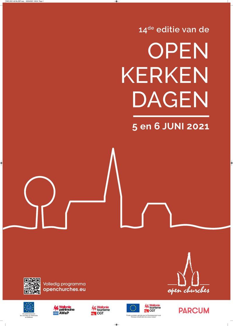 De poster van de Open Kerkendagen 2021.