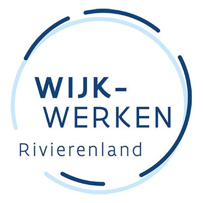 Het logo van wijk-werken Rivierenland.