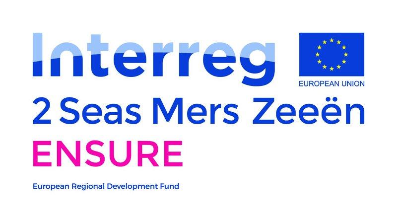 Het logo van Interreg ENSURE, waarvan wijk-werken Rivierenland een onderdeel is