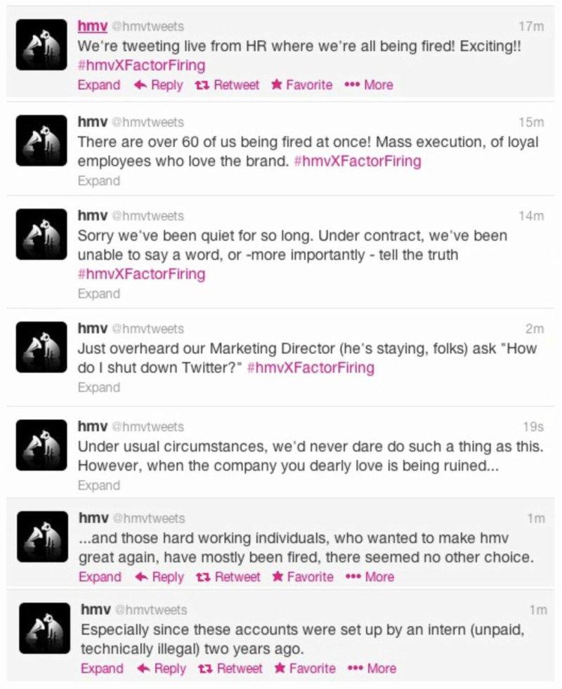 Social Media Fails - HMV