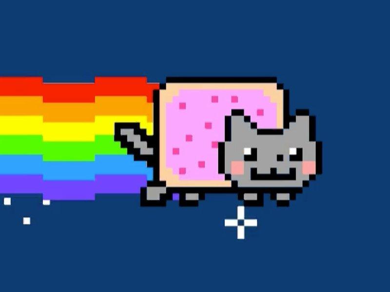 Still image of Nyan cat NFT