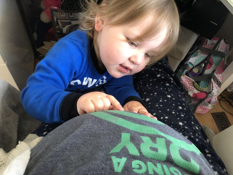 toddler talks to new baby pregnant belly