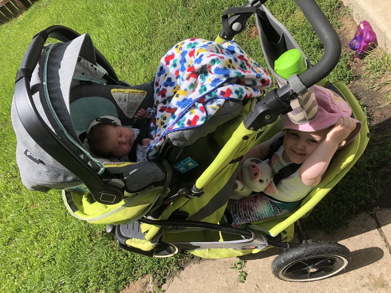 double stroller for toddler and new baby