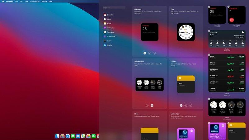 OS 11 Widgets