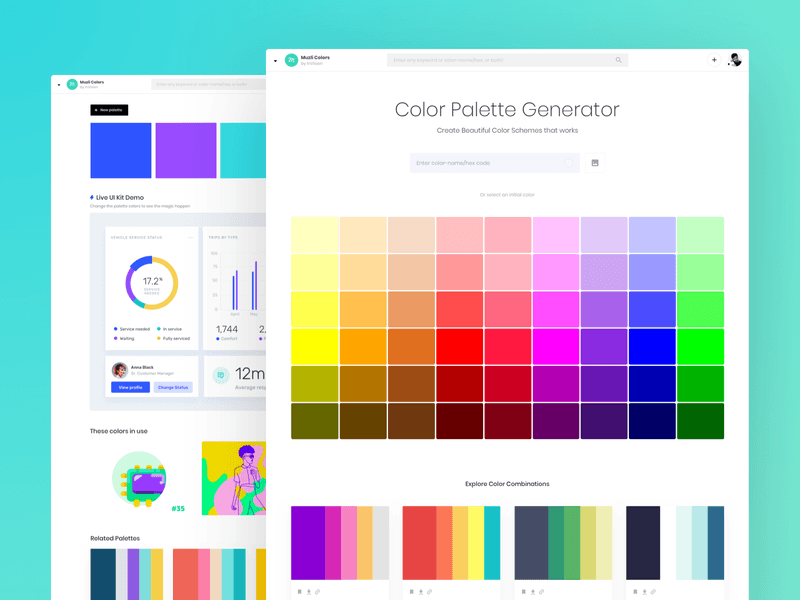 Generating a Colour Palette for Interface Design