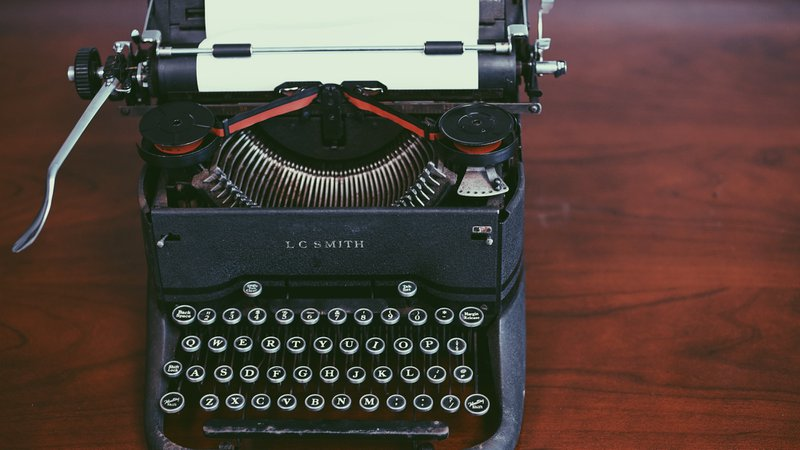 Vintage black typewriter