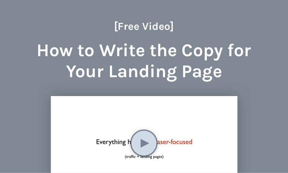 step-by-step saas landing page copywriting video