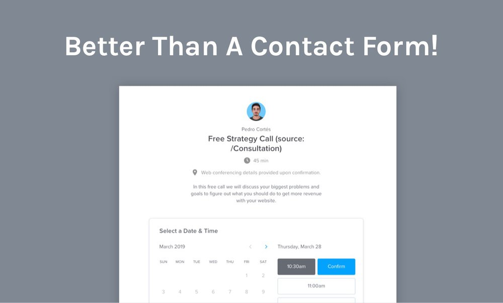 SaaS demos better than a contact form