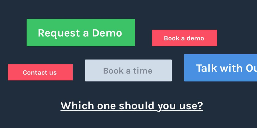 Saas demo CTA - which one should you use