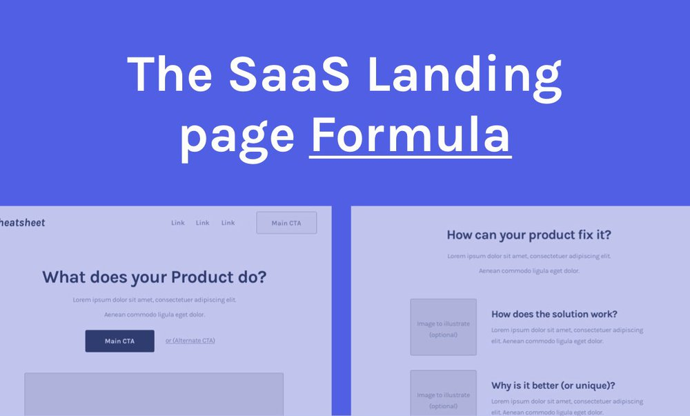 Saas copywriting formula