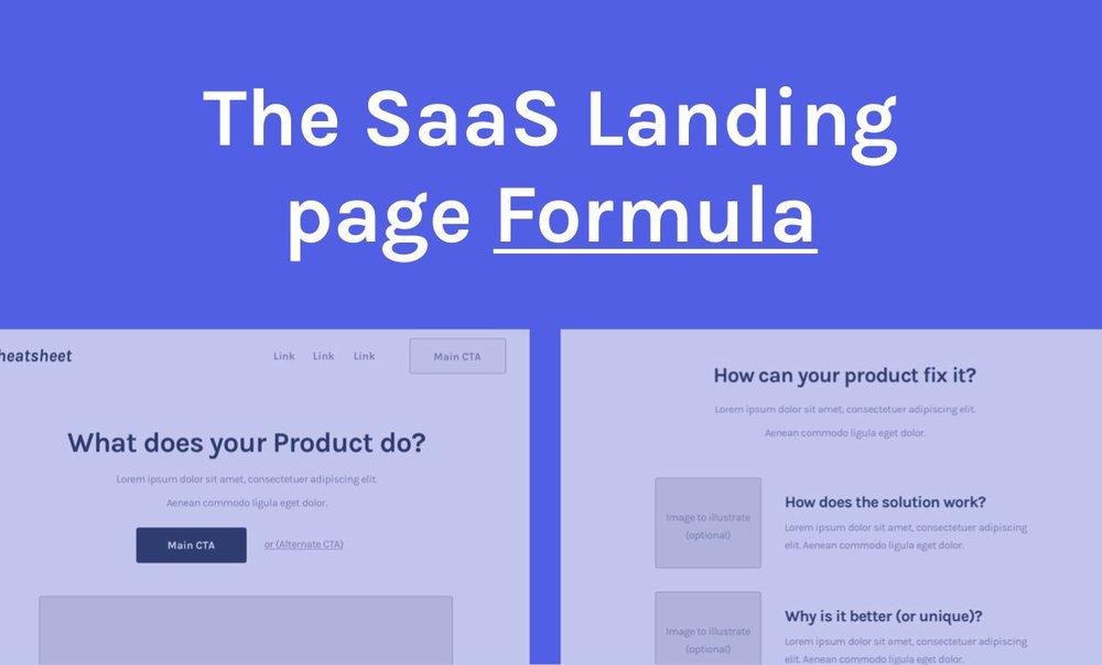 SaaS Landing page Formula