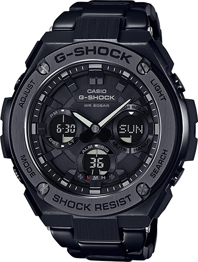 Zwarte horloges: Casio G-Shock G-Steel horloge - GST-S110BD - prijs € 319,- euro