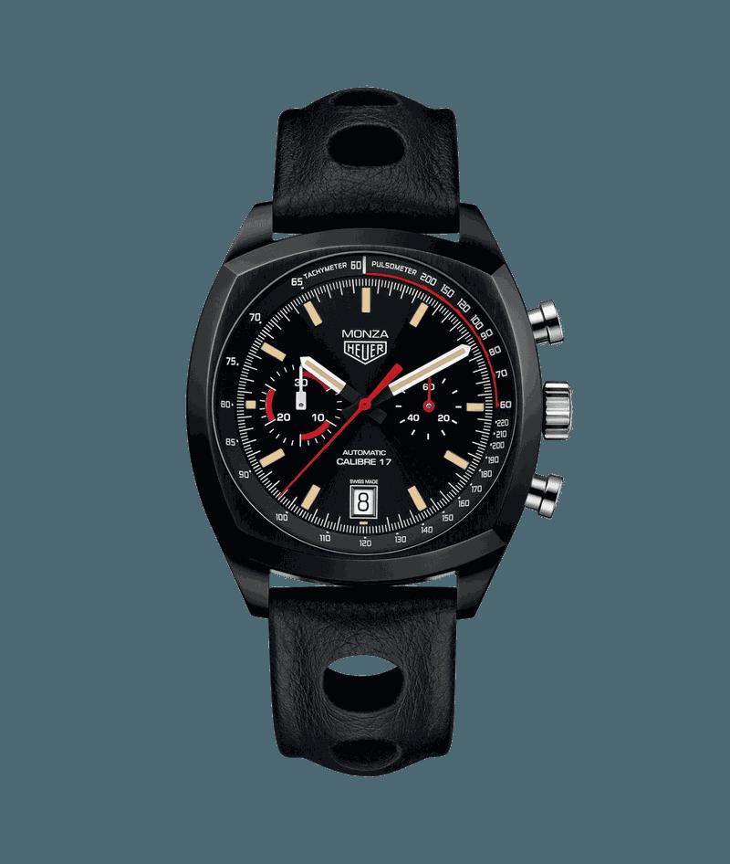 Zwarte horloges: Tag Heuer - Automatiische Chronograaf - Heritage Calibre 17 - Monza Edition - € 4.950 euro