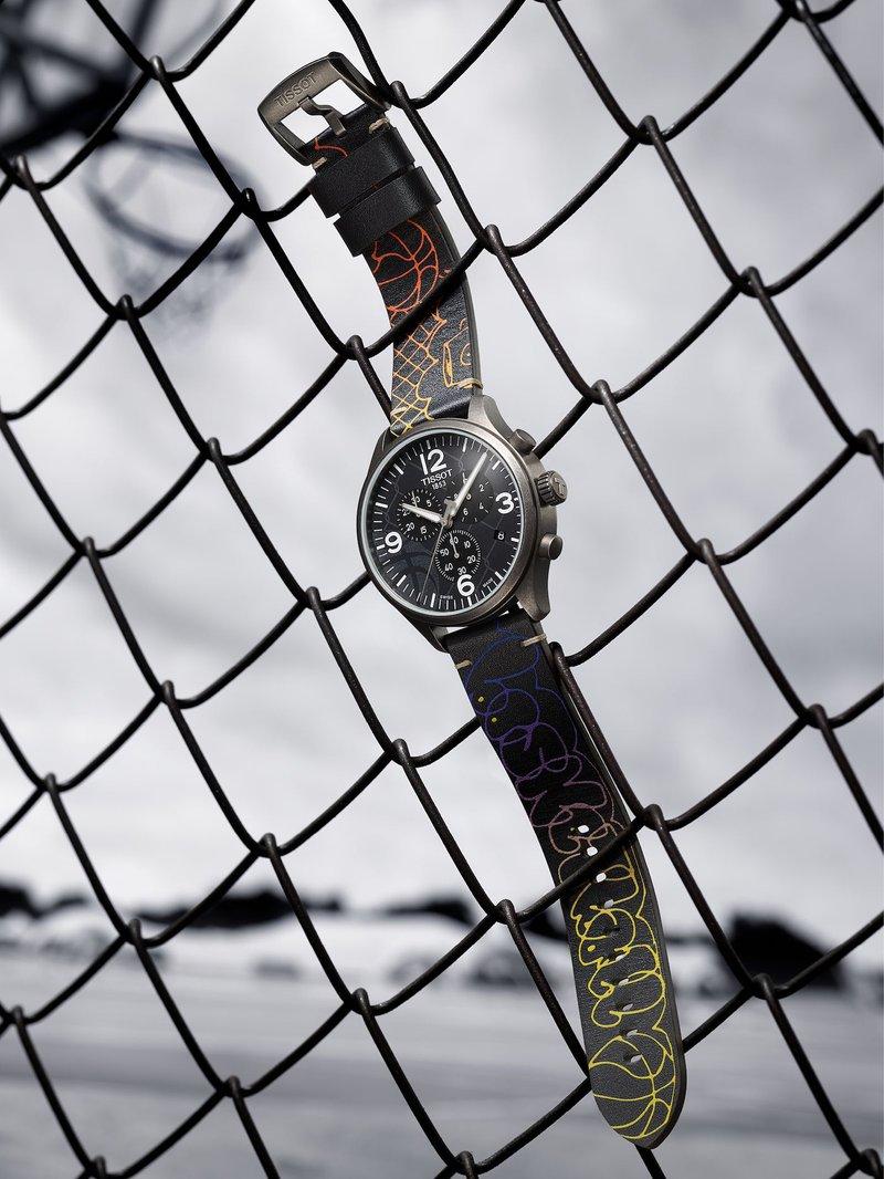 Tissot horloges:  Tissot Chrono XL 3X3 Street Basketball - ter ere van het snelle 3 x 3 basketbal binnen de omheining
