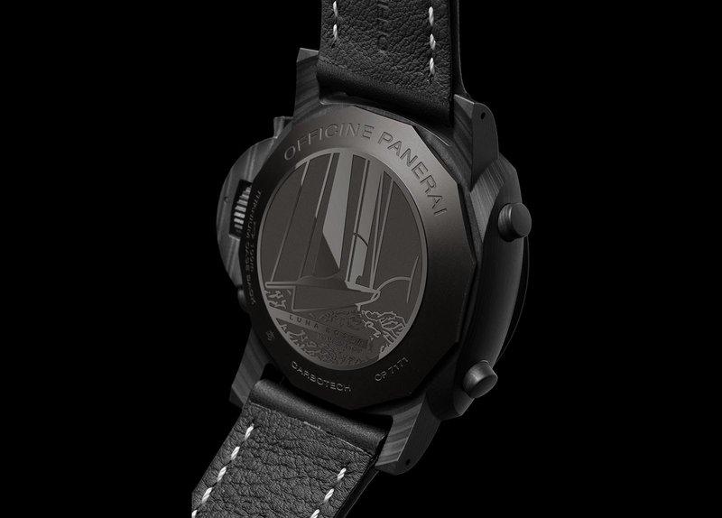 Panerai horloges: De Luna Rossa collectie van Panerai. Achterkant van de Luminor